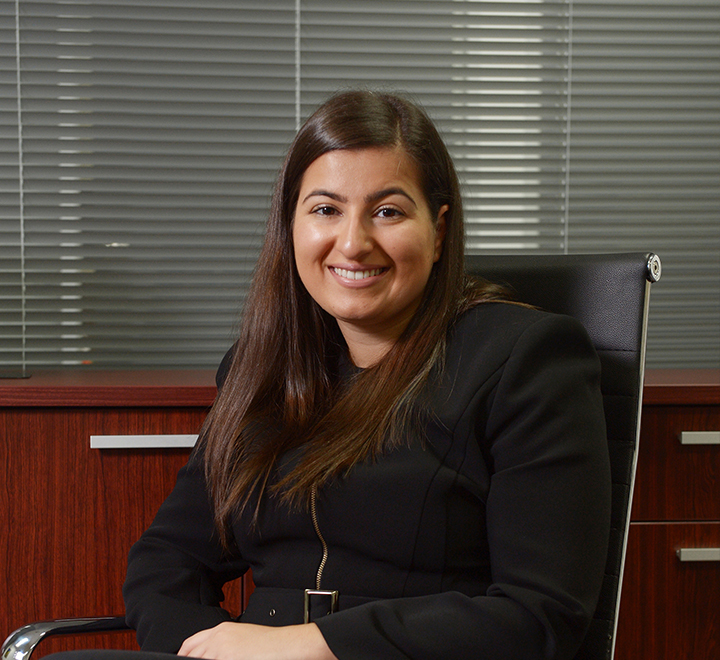 Woman Lawyer sitting in chair